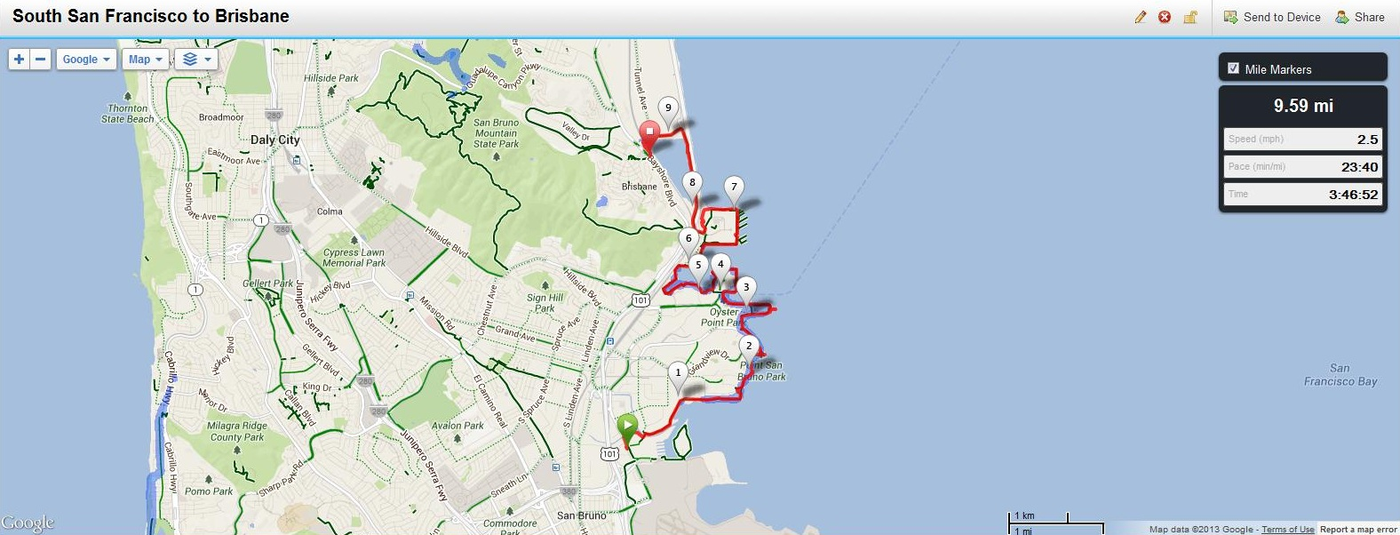 Maps Hike Stats and Transportation The San Francisco Bay Trail